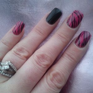3/$10✨Pink Tiger Jamberry Nail Wrap Manicure